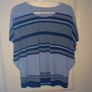 Chico's Tops - Chico's Blue Stripe Knit Top